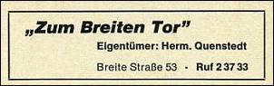 Klicken Sie auf die Grafik für eine größere Ansicht  Name:Hotel Zum Breiten Tor_TB 1971.jpg Hits:105 Größe:14,6 KB ID:7733