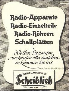 Klicken Sie auf die Grafik für eine größere Ansicht  Name:goslar, radio und musikhaus scheiblich 1949.jpg Hits:5 Größe:519,9 KB ID:14164