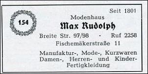 Klicken Sie auf die Grafik für eine größere Ansicht  Name:Modenhaus Rudolph - Telefonbuchauszug.jpg Hits:1 Größe:19,0 KB ID:13771