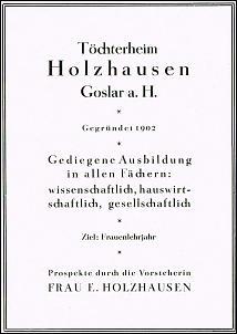Klicken Sie auf die Grafik für eine größere Ansicht  Name:töchterheim holzhausen goslar.jpg Hits:124 Größe:104,4 KB ID:13678