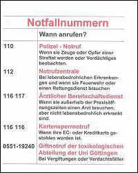 Notrufnummer Deutschland